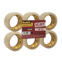 Scotch® Packaging Tape Heavy, Transparent, 1 Roll, 50 mm x 66 m
