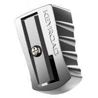 Temperówka KEYROAD, aluminiowa, pojedyńcza, pakowana na displayu, srebrna, Temperówki, Artykuły do pisania i korygowania