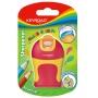 Temperówka KEYROAD Soft Touch, plastikowa, podwójna, ostrzenie zaokrąglone, blister, mix kolorów