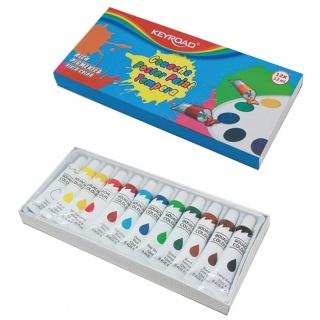 Farby temperowe KEYROAD, 12x12ml, 12 kolorów, Plastyka, Artykuły szkolne