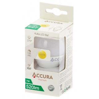 Żarówka LED ACCURA Premium, kulka, E27, 7W, Żarówki, Urządzenia i maszyny biurowe