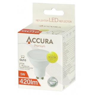 Żarówka LED ACCURA Premium, GU10, 5W, Żarówki, Urządzenia i maszyny biurowe
