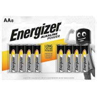 BATTERY ENERGIZER POWER ALKALAINE AA/8
