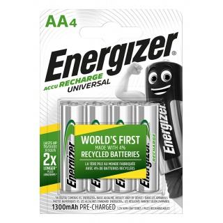 Akumulator ENERGIZER Universal, AA, HR6, 1,2V, 1300mAh, 4szt., Akumulatorki i ładowarki, Urządzenia i maszyny biurowe