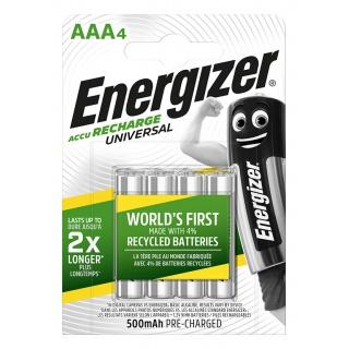 Akumulator ENERGIZER Universal, AAA, HR03, 1,2V, 500mAh, 4szt., Akumulatorki i ładowarki, Urządzenia i maszyny biurowe