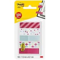 Zakładki indeksujące POST-IT® Mini (684-CAN5), PP, 11,9x43,2mm, 5x20 kart., mix kolorów, Bloczki samoprzylepne, Papier i etykiety