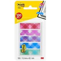 Zakładki indeksujące POST-IT® Mini (684-PLD5), PP, 11,9x43,2mm, 5x20 kart., mix kolorów, Bloczki samoprzylepne, Papier i etykiety