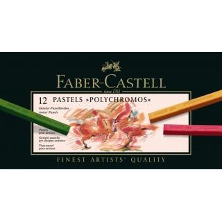 POLYCHROMOS SUCHE PASTELE KARTON 12 SZT. 9280 FABER-CASTELL, Pastele, Artystyczne