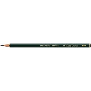 OŁÓWEK CASTELL 9000/6B FABER-CASTELL, Ołówki, Artystyczne