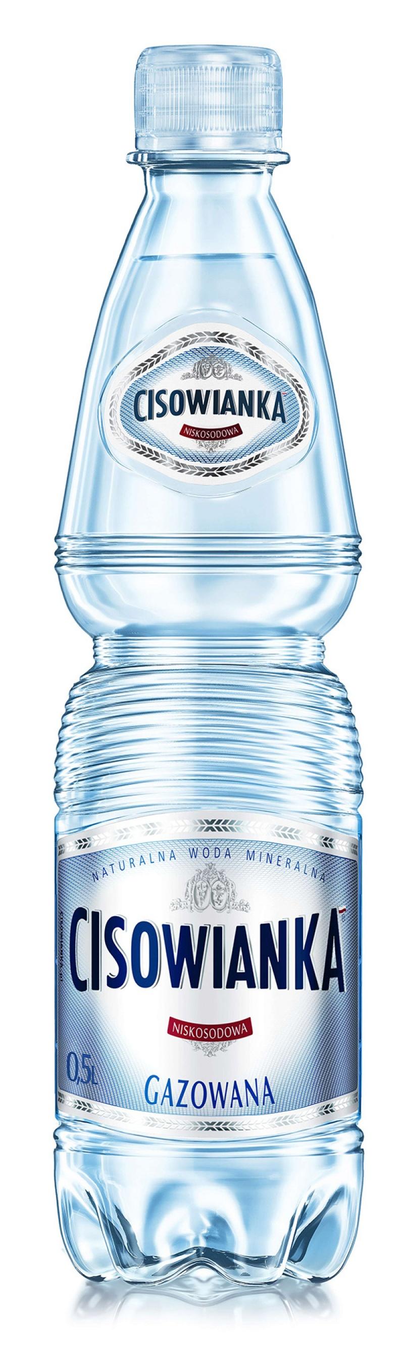 Woda CISOWIANKA, gazowana, butelka plastikowa, 0,5l, Woda, Artykuły spożywcze
