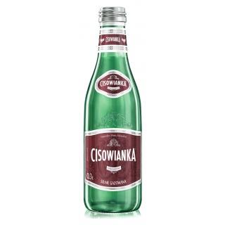 Woda CISOWIANKA, silnie gazowana, butelka szklana, 0,3l, Woda, Artykuły spożywcze