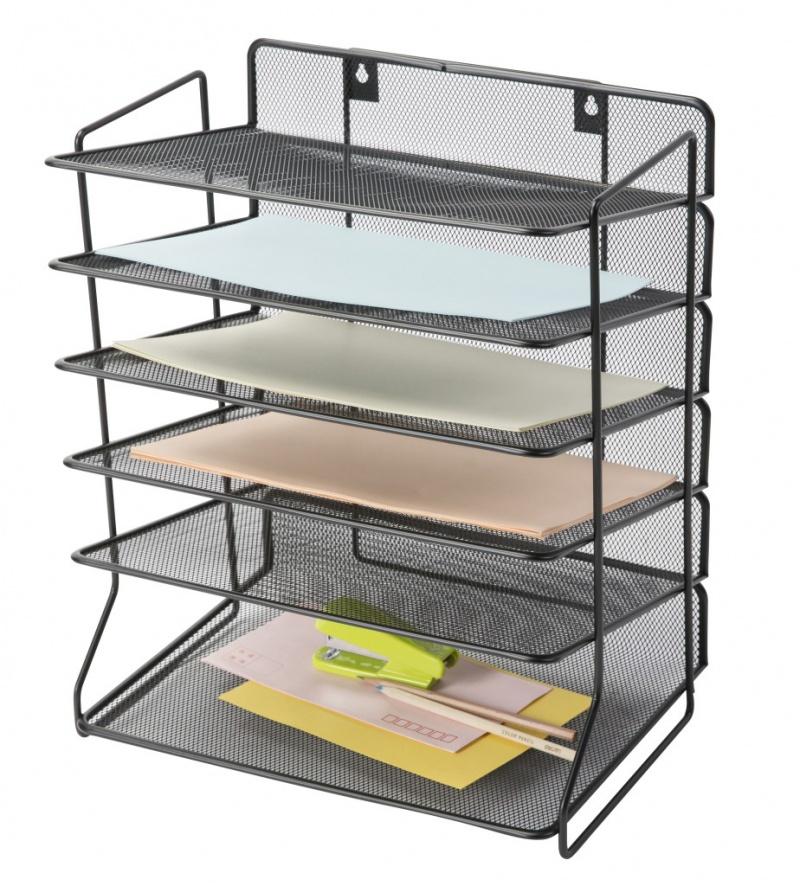Sorter na dokumenty Q-CONNECT Office Set,metalowy, 6 półek, czarny, Prezentery i sortery, Prezentacja