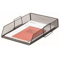Szufladka na biurko Q-CONNECT Office Set, metalowa, czarna, Szufladki - zestawy, Drobne akcesoria biurowe