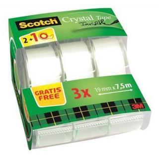 Taśma biurowa Scotch® Magic™ (8-1975 C3/2), matowa, 19mm, 7,5m, na podajniku, 2szt. + 1 GRATIS, Taśmy biurowe, Drobne akcesoria biurowe