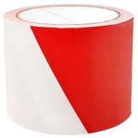 Taśma ostrzegawcza, 75mm, 100m, biało-czerwona, Taśmy specjalne, Drobne akcesoria biurowe