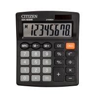 Kalkulator biurowy CITIZEN SDC-805NR, 8-cyfrowy, 120x105mm, czarny, Kalkulatory, Urządzenia i maszyny biurowe