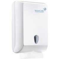 Podajnik do ręczników składanych ZZ VELVET, ABS, biały, Ręczniki papierowe i dozowniki, Artykuły higieniczne i dozowniki