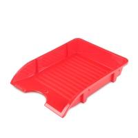 Szufladka na biurko DONAU, niełamliwa, PP, A4, czerwony, Szufladki na biurko, Drobne akcesoria biurowe