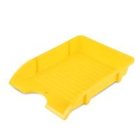 Szufladka na biurko DONAU, niełamliwa, PP, A4, żółty, Szufladki na biurko, Drobne akcesoria biurowe