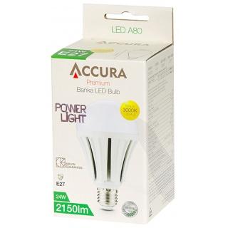 Żarówka LED ACCURA PowerLight, bańka, E27,24W, Żarówki, Urządzenia i maszyny biurowe