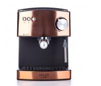 Ekspres do kawy ADLER AD 4404, ciśnieniowy, 1,6L, aluminium, miedziany, Ekspresy do kawy, Wyposażenie biura