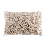 Rubber Bands OFFICE PRODUCTS, diameter 25mm, 1,5x1,5mm, 1000g, white