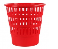 Kosz na śmieci OFFICE PRODUCTS, ażurowy, 16l, czerwony, Kosze plastik, Wyposażenie biura