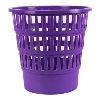 Kosz na śmieci OFFICE PRODUCTS, ażurowy, 16l, fioletowy, Kosze plastik, Wyposażenie biura