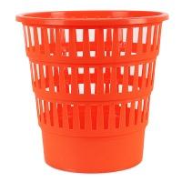 Kosz na śmieci OFFICE PRODUCTS, ażurowy, 16l, pomarańczowy, Kosze plastik, Wyposażenie biura
