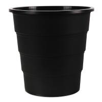 Kosz na śmieci OFFICE PRODUCTS, pełny, 16l, czarny, Kosze plastik, Wyposażenie biura