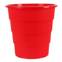 Kosz na śmieci OFFICE PRODUCTS, pełny, 16l, czerwony, Kosze plastik, Wyposażenie biura