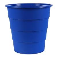 Kosz na śmieci OFFICE PRODUCTS, pełny, 16l, niebieski, Kosze plastik, Wyposażenie biura