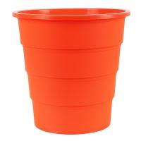 Kosz na śmieci OFFICE PRODUCTS, pełny, 16l, pomarańczowy, Kosze plastik, Wyposażenie biura