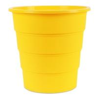 Kosz na śmieci OFFICE PRODUCTS, pełny, 16l, żółty, Kosze plastik, Wyposażenie biura