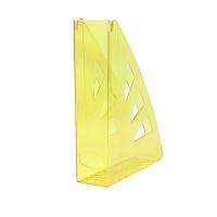 Pojemnik na dokumenty OFFICE PRODUCTS, ażurowy, A4, transparentny żółty, Pojemniki na dokumenty i czasopisma, Archiwizacja dokumentów