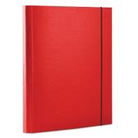 Teczka z gumką OFFICE PRODUCTS, PP, A4/30, 3-skrz., czerwona, Teczki przestrzenne, Archiwizacja dokumentów