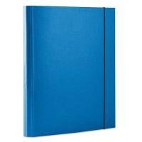Teczka z gumką OFFICE PRODUCTS, PP, A4/30, 3-skrz., niebieska, Teczki przestrzenne, Archiwizacja dokumentów