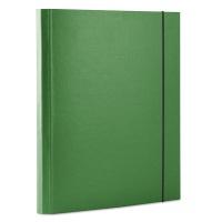 Teczka z gumką OFFICE PRODUCTS, PP, A4/30, 3-skrz., zielona, Teczki przestrzenne, Archiwizacja dokumentów