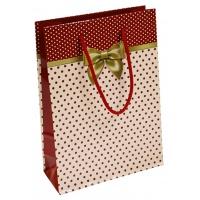 Torebka na prezenty OFFICE PRODUCTS, laminowana, 20x8x28cm, całoroczna, mix wzorów, Produkty kreatywne, Artykuły szkolne