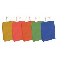 Torebka na prezenty OFFICE PRODUCTS, papierowa, 18x8x22,5cm, jednolita, całoroczna, mix wzorów, Produkty kreatywne, Artykuły szkolne