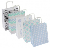 Torebka na prezenty OFFICE PRODUCTS, papierowa, 18x8x22,5cm, jednolita, pastelowa, mix wzorów, Produkty kreatywne, Artykuły szkolne