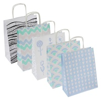 Gift Bag OFFICE PRODUCT, laminated, 18x8x22,5cm, pastel, assorted designs