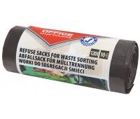 Worki na śmieci domowe OFFICE PRODUCTS, do segregacji odpadów BIO, mocne (LDPE), 120l, 10szt., brązowe, Worki, Artykuły higieniczne i dozowniki