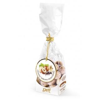 Orzechy laskowe w białej czekoladzie stracciatella 100g, Przekąski, Artykuły spożywcze