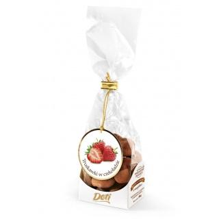Truskawki w czekoladzie z kakao 100g, Przekąski, Artykuły spożywcze