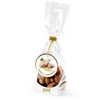 Imbir w czekoladzie z kakao 100g, Przekąski, Artykuły spożywcze