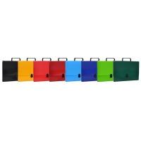 Teczka-pudełko OFFICE PRODUCTS, PP, A4/5cm, z rączką i zamkiem, mix kolorów, Teczki przestrzenne, Archiwizacja dokumentów