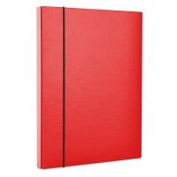 Teczka-pudełko z gumką OFFICE PRODUCTS, PP, A4/40, czerwona, Teczki przestrzenne, Archiwizacja dokumentów