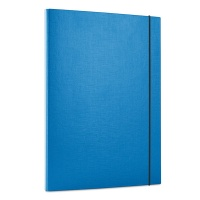 Teczka z gumką OFFICE PRODUCTS, PP, A4/15, 3-skrz., niebieska, Teczki przestrzenne, Archiwizacja dokumentów