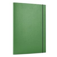 Teczka z gumką OFFICE PRODUCTS, PP, A4/15, 3-skrz., zielona, Teczki przestrzenne, Archiwizacja dokumentów